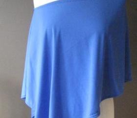 BLUE SILKY COTTON PONCHO